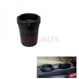 sleek black smokeless car ashtray