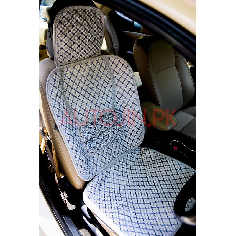 Incredible Silk Summer Seat Covers Set Light Blue White Ibusinesslaw Wood Chair Design Ideas Ibusinesslaworg
